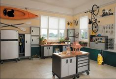Genial Garage Turned Hobby Room