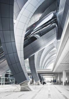 """Think this is another to be added to my """"must Paint"""" list. #Architecturefiore-rosso: ,terminal 3 (dubai ariport) - paul andreu architecte"""