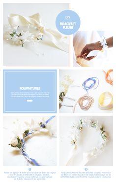 DIY bracelet fleuri by Princesse tam.tam, avril 2015