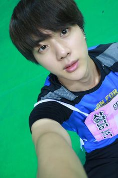 BTS Tweet - Jin (selca) ISAC Recording 150810 --아미들 잘자요 난 이제 뻗으러감!! -- tran: Goodnight, ARMYs. I'm going to stretch out (my body) now!!  (T/N: Stretching out his body to sleep) --- Trans cr; Mary @ bts-trans