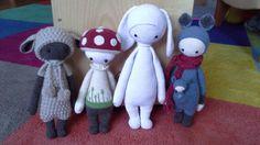 LUPO, PAUL, RITA, KIRA made by Susanne / crochet patterns by lalylala