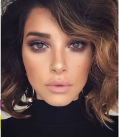 natural make-up ideas; glam make-up looks; Make-up looks for brown eyes - Prom Makeup Makeup Hacks, Makeup Goals, Makeup Inspo, Makeup Inspiration, Beauty Makeup, Hair Makeup, Hair Beauty, Makeup Ideas, Makeup Lips