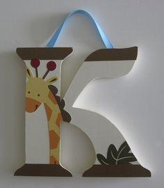 Jungle 123 Nursery Wall Letters Decor Bedding Kidsline Giraffe Monkey Elephant