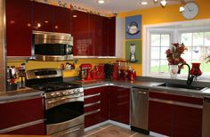 Red Kitchen Counter Appliances