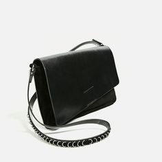 CRACKLED LEATHER CROSSBODY BAG-Crossbody bags-BAGS-WOMAN | ZARA United States