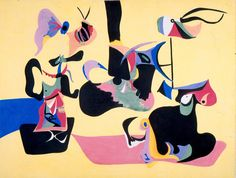 Arshile Gorky (American, born Armenia, 1904–1948) | Garden in Sochi | 1940–1941 | Gouache on board | Purchase with bequest of Charles Donald Belcher | 1977.50
