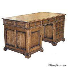 Oak panelled desk