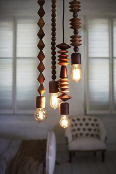 The four-strand Bright Beads Pendant Light Cluster, designed by Coco Reynolds of Marz Deisgner, is AU $1,580 by Marz Designs.