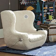 Instead of buying a couch for the new video game room we could buy a couple of video game chairs.