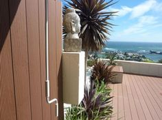 Vertical screen placed at the coast in Cape Town.
