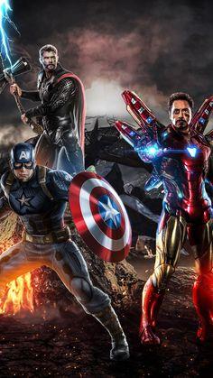 Avengers Endgame Tony Captain and Thor iPhone Wallpaper - Marvel Universe Iron Man Avengers, Marvel Avengers, Wanda Marvel, Marvel Comics, Hero Marvel, Avengers Movies, Marvel Memes, Marvel Characters, Captain Marvel