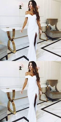 Prom Dresses Beautiful, Off the Shoulder White Mermaid Long Bridesmaid dress, Looking for the perfect prom dress to shine on your big night? Prom Dresses 2020 collection offers a variety of stunning, stylish ball. Junior Prom Dresses, Prom Dresses For Teens, Prom Dresses Online, Cheap Prom Dresses, Formal Dresses, Wedding Dresses, Bridesmaid Gowns, Pageant Dresses, Dress Prom