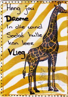 Afrikaans, Atc, Stencil, Giraffe, Animals, Felt Giraffe, Animales, Animaux, Stenciled Table