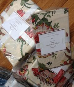 Pottery Barn Reagan Duvet Cover Set King w/ 3 Euro Shams Floral Red Palampore #PotteryBarn #Cottage