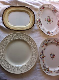 Serving pieces with style #vintage china # wedding
