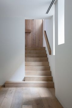 Stairs and handrail Wood Staircase, Stair Handrail, Modern Staircase, Staircase Design, Staircases, Stair Design, Railings, Handrail Ideas, Staircase Remodel