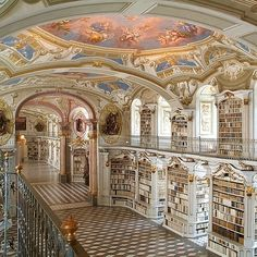 Library at the Benedictine Monastery in Admont, Austria. Kinda reminds me of Beauty and the Beast...