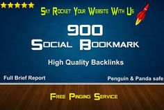 900 Social Bookmarking High Quality Backlinks