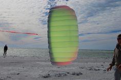Flying big kites at Anna Maria Island, FL