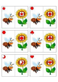 Arı Çiçek Eşleştirme Kartları | Evimin Altın Topu