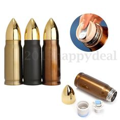 350ml Bullet Stainless Steel Travel Vacuum Cup Water Bottle Warm Flask Thermoses