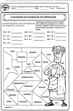 Multiplicação com resultados em números romanos - actiludis