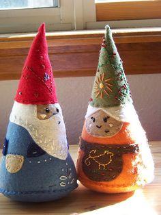 Felt Gnomes #gnomes, #toys, #DIY,