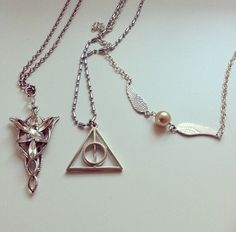 Harry Potter Jewelry  Golden snitch & Deathly Hallows