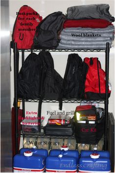 72 hour emergency kit - I like the document stash idea, lots of good info here. Well thought out emergency kit. Details at http://endlesscrafting.blogspot.com