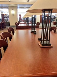 Open study tables on first floor.