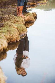 A creative and unique view for engagement photos. | From the Hip Photo | #engagement #pictures #shots
