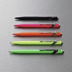 Caran D'ache Metal Collection Fluoro Ballpoint Pen