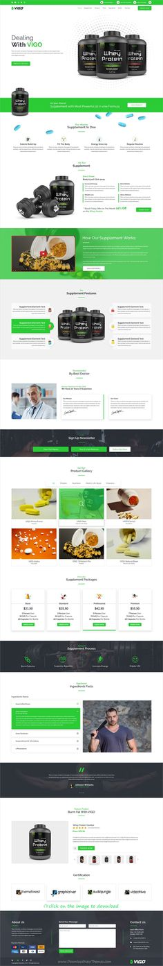 vigo is clean and modern design PSD template for #health suplement, medicine, body enhancement product, weiht loss and #diet product #landingpage website to download click on image.