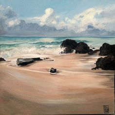 Original Painting Acrylic Beach scene on boxed by jackienewton1, $320.00