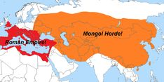 The Roman empire vs mongol empire _______________________🌏 - - - ___________. by map Ancient Rome, Ancient History, Ancient Aliens, Ancient Greece, Roman History, Fantasy Map, Alternate History, Islamic World, Alexander The Great