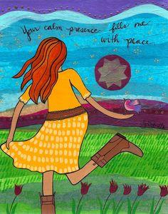 Print: Calm Presence by LoriPortka on Etsy