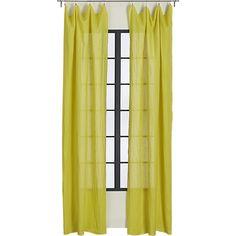 French-Belgian yellow linen panel