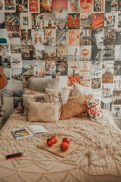 vintage room NYC Apartment - Keepin it Fresh Cute Room Ideas, Cute Room Decor, Room Wall Decor, Room Art, Retro Room, Vintage Room, Vintage Dorm Decor, Vintage Diy, Bedroom Vintage