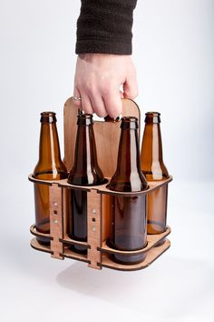 """Such a neat idea. """"6 pack bottle holder"""""""