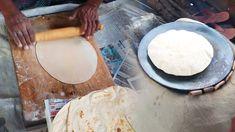 Amazing fastest traditional handmade roti making in the market. Roti making video show how to handmade Indian roti. Soft and nice round shaped roti street fo. Street Food, Food Videos, Traditional, Marketing, Watch, Youtube, Handmade, Clock, Hand Made