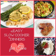 BRAND NEW! Easy Slow Cooker Dinners for Two