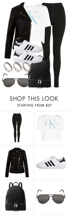 """""""Sin título #12096"""" by vany-alvarado ❤ liked on Polyvore featuring Topshop, Calvin Klein, New Look, adidas Originals, MICHAEL Michael Kors, Yves Saint Laurent and ASOS"""