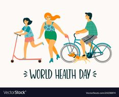 World health day healthy lifestyle sport family Vector Image , Happy Mothers Day Letter, Health Snacks For Work, Apple Benefits, Family Vector, World Health Day, Health Logo, Money Quotes, Health Quotes, Health Motivation