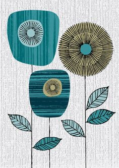 A little retro, a lotta cool. could use scrapbook paper and old book pages for f… A little retro, a lotta cool. could use scrapbook paper and old book pages for fun textures! Blue Block, Inspiration Art, Tattoo Inspiration, Motif Floral, Doodle Art, Scrapbook Paper, Print Patterns, Flower Patterns, Pattern Design