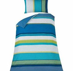 Argos Knick Knack Stripe Teal Bedding Set - Single Dress your bed in colourful fashion with this single Knick Knack duvet cover set from our Living range. reinvigorating and enhancing the look of your bedroom. Providing ultimate comfort this vibrant.  http://www.comparestoreprices.co.uk//argos-knick-knack-stripe-teal-bedding-set--single.asp
