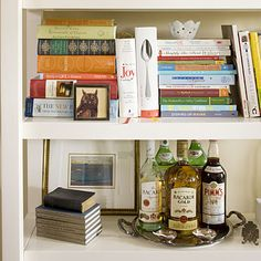 Artfully Arrange Bookshelves - 10 Apartment Decorating Lessons from Sally Steponkus - Southern Living