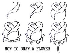 Daryl Hobson Artwork: How To Draw A Rose Step By Step