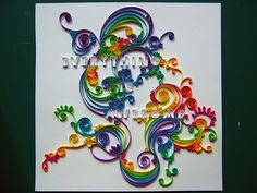 Quilling- finished by erin casner