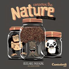 Camiseta 'Conserve the Nature' - Catalogo Camiseteria.com