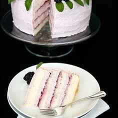 Blackberry Lemon Elderflower Cake